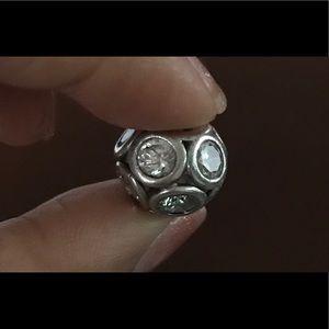 Cubic Zirconia Ball Charm